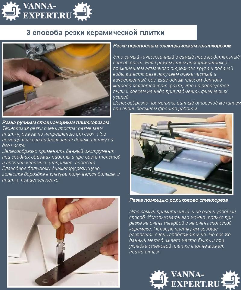 3 способа резки керамической плитки