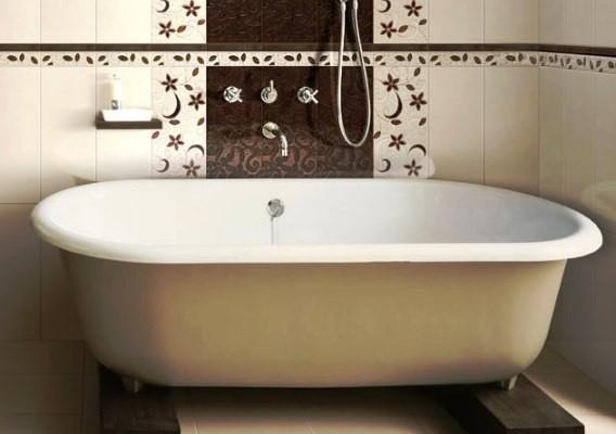 На фото ванна, покрытая акриловой краской