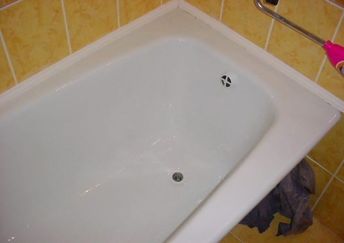 Восстановленная акрилом ванна