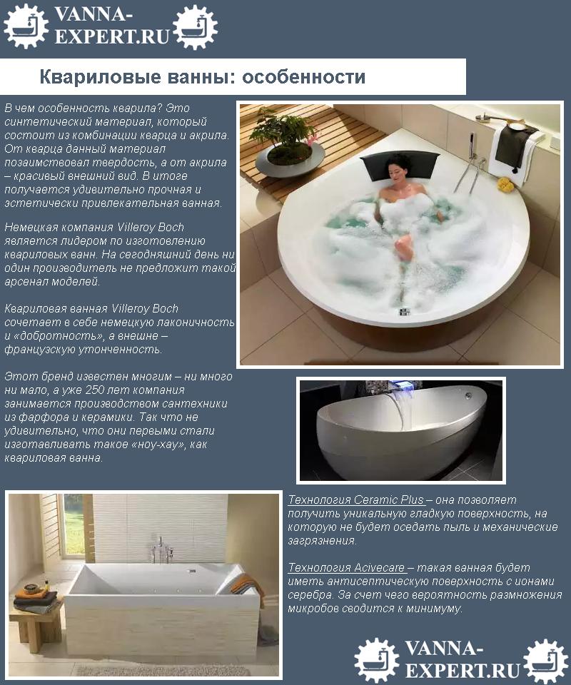 Квариловые ванны: особенности