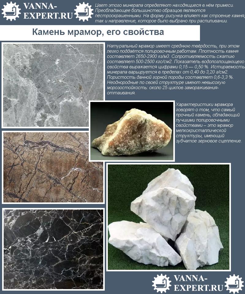 Камень мрамор, его свойства