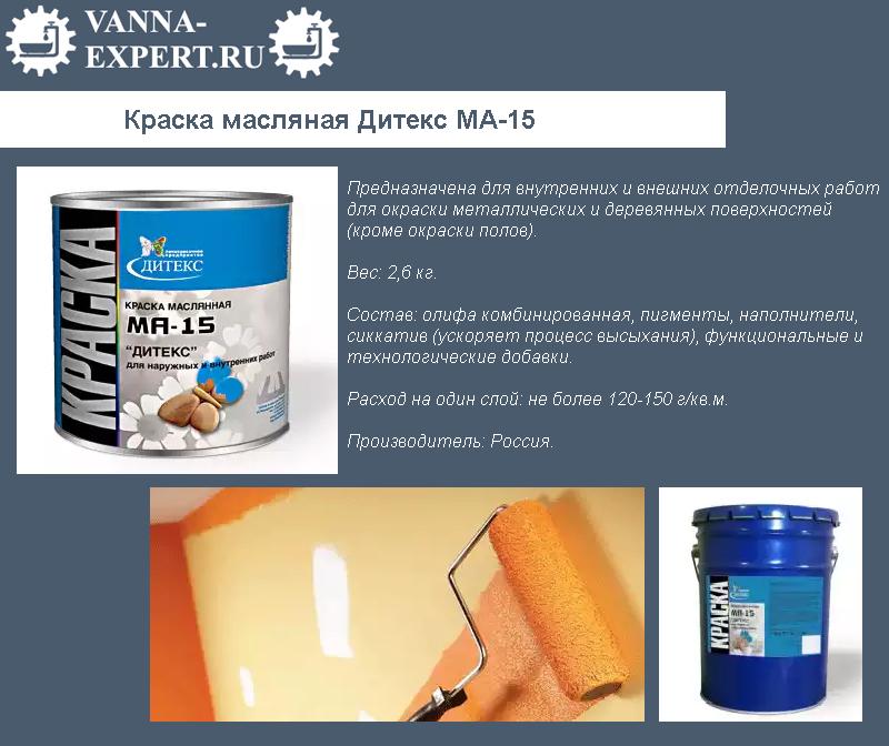 Краска масляная Дитекс МА-15