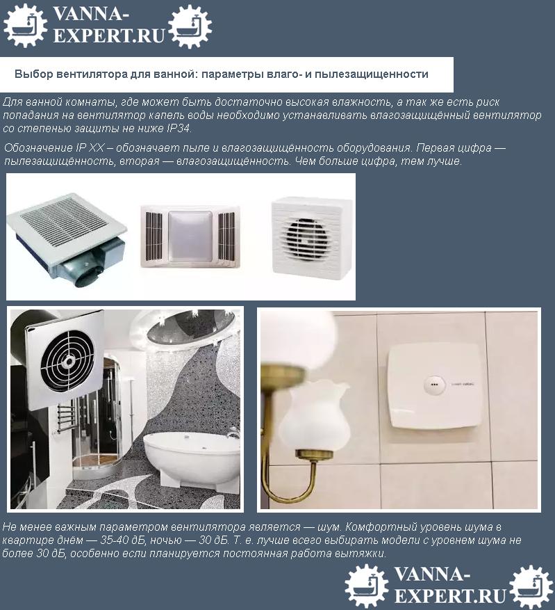 Выбор вентилятора для ванной: параметры влаго- и пылезащищенности