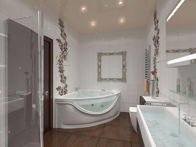 Гидромассажная ванна в интерьере