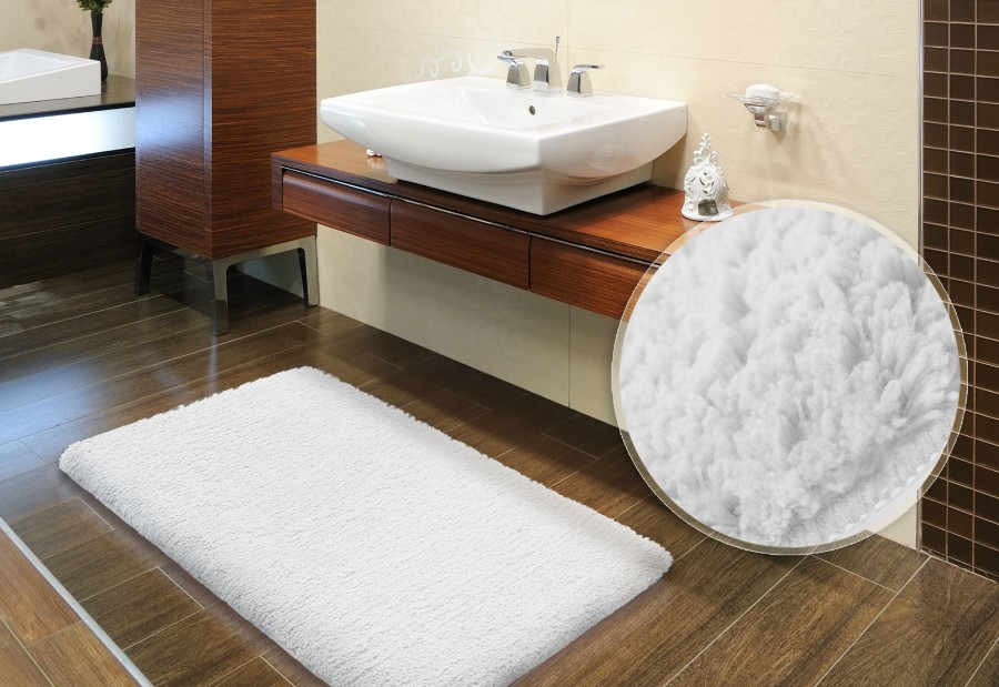 Хлопковый коврик в ванную комнату