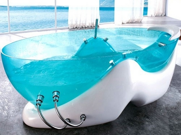 Комбинированная ванна - из стекла и акрила