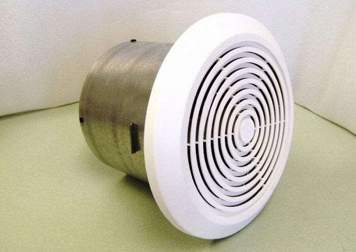 На фото вентилятор для ванной комнаты