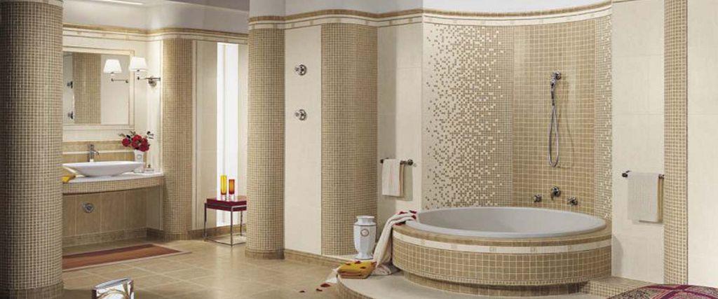 Отделка встраиваемой ванны мозаикой