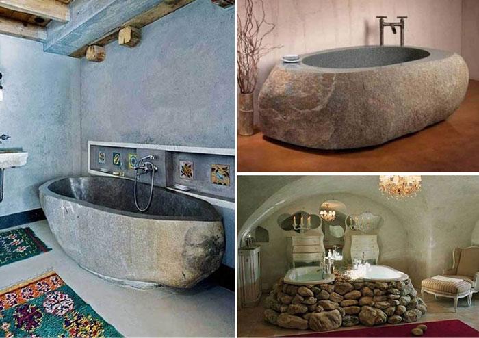 Подборка ванн из натурального камня