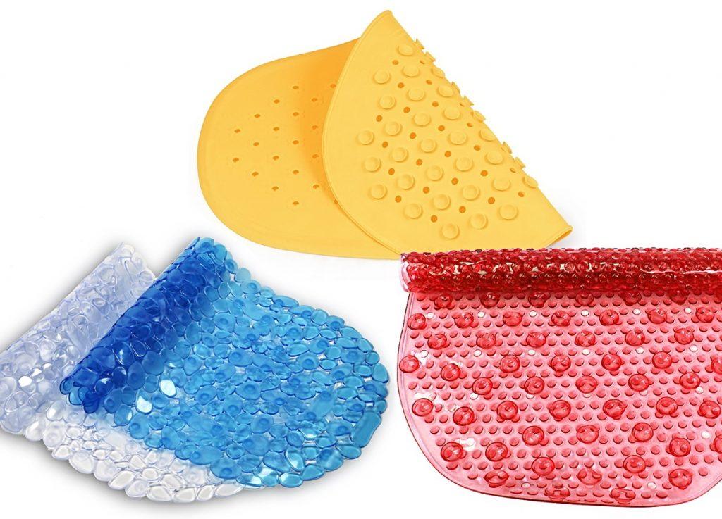 Противоскользящие резиновые коврики для ванной