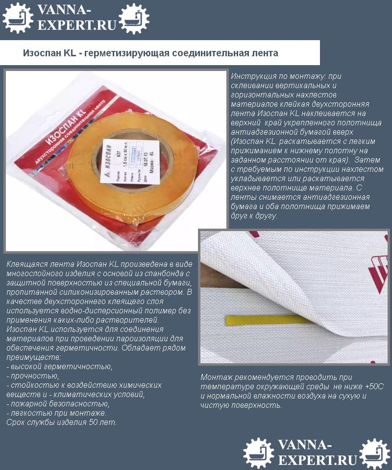 Изоспан KL - герметизирующая соединительная лента