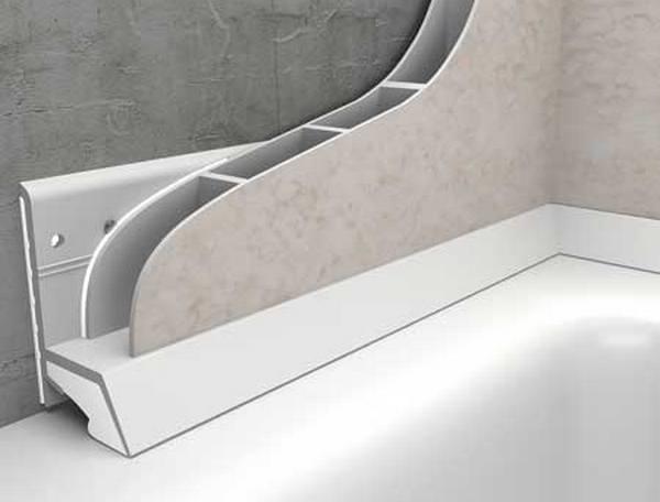 Монтажа пластикового уголка под плитку в ванной