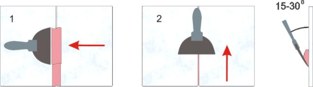 Последовательность расшивки швов керамической плитки