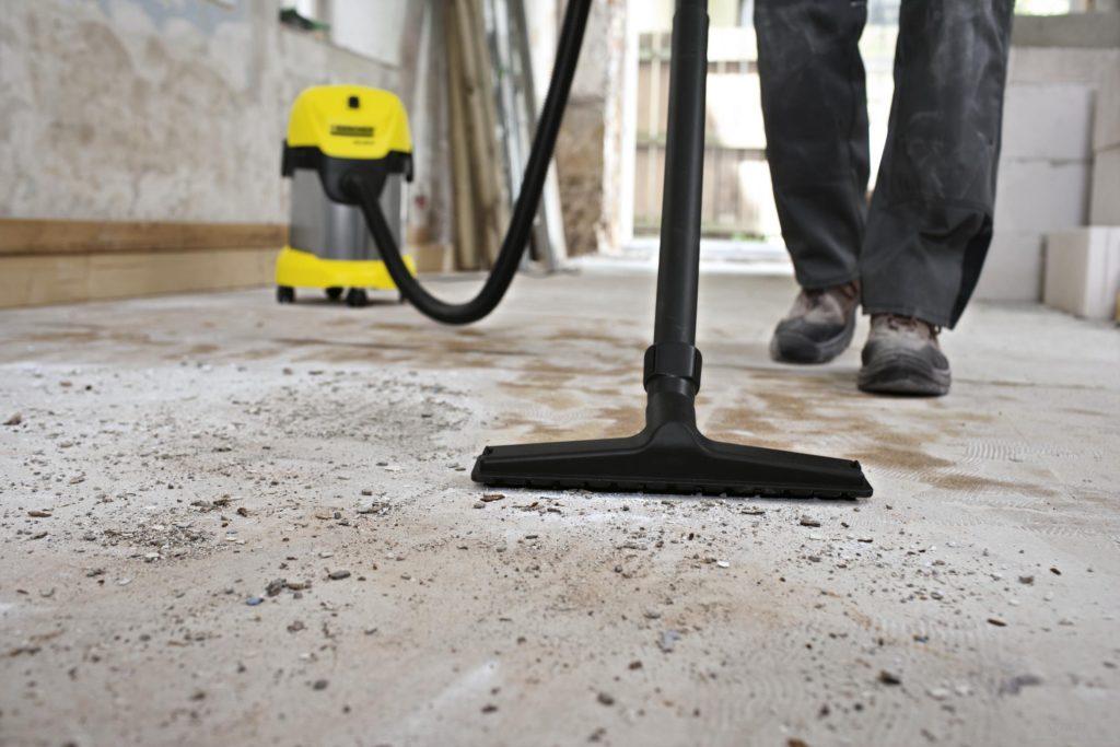 Применение строительного пылесоса
