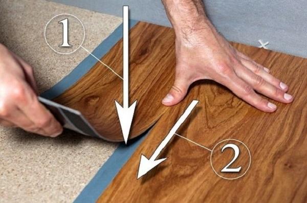Схема приклеивания плитки