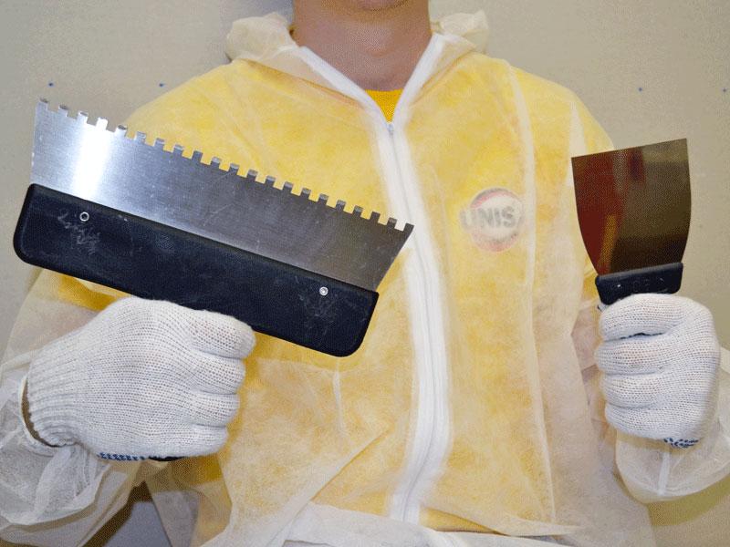Инструменты для нанесения плиточного клея