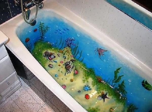 Рисунок в ванне