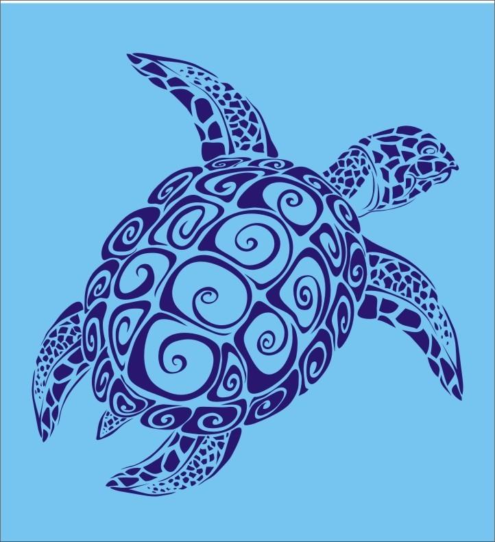 Трафарет с изображением черепахи