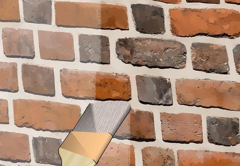 Наносите лак только на чистую стену