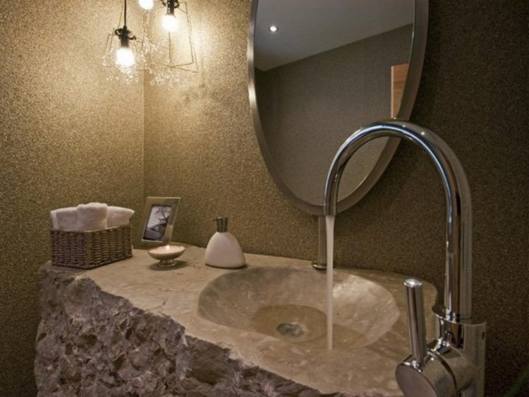 Натуральные каменные раковины для ванной комнаты
