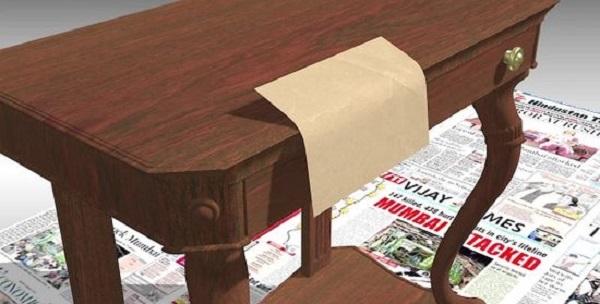 Слегка отшлифуйте высохшую мебель