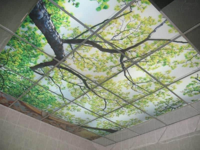 Стеклянный потолок, панно