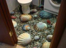 Ванная комната с наливным полом