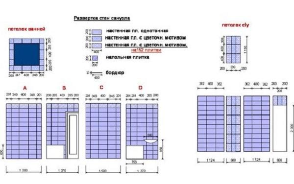 План раскладки плитки, пример