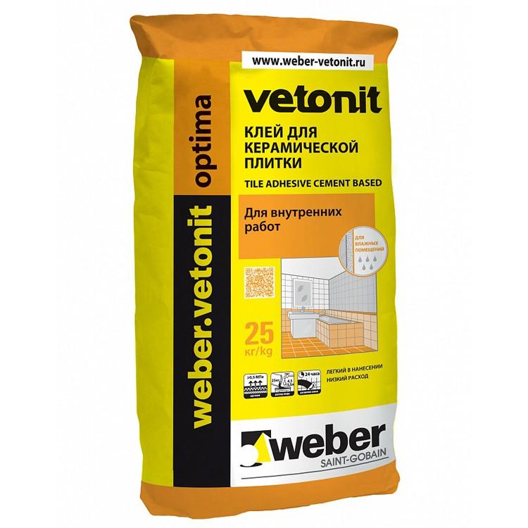 Плиточный клей weber.vetonit