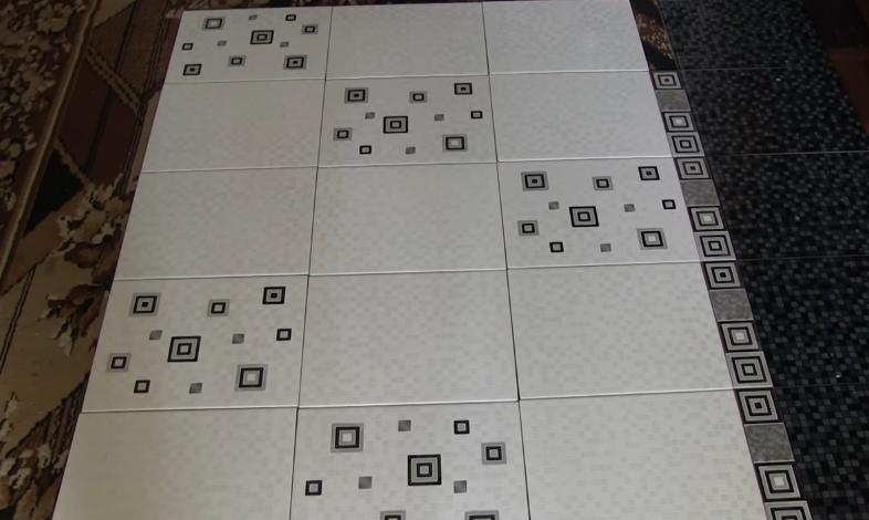 Раскладка плитки без клея