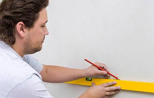 Разметка стены под укладку плитки
