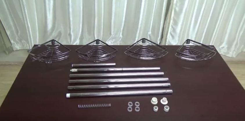 Элементы телескопической полки