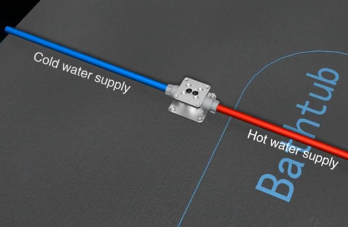 Подключение трубопроводов