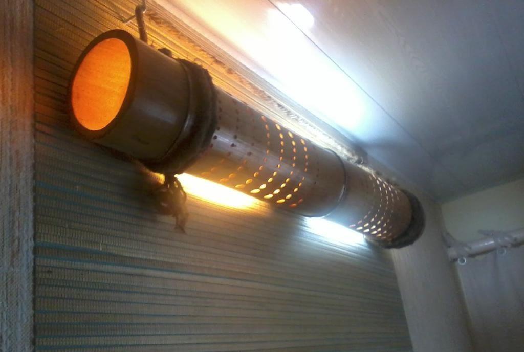 Бамбуковый светильник, пример
