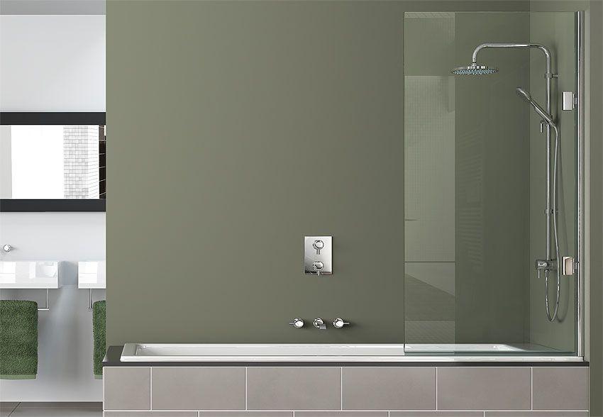 Бескаркасная ширма для ванной