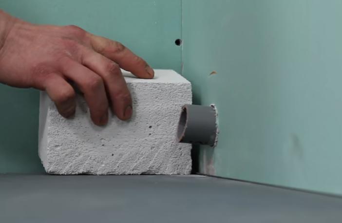 Блок для установки поддона
