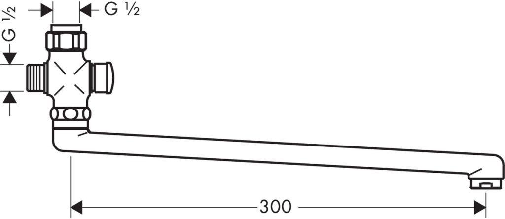 Длинный поворотный излив, схема