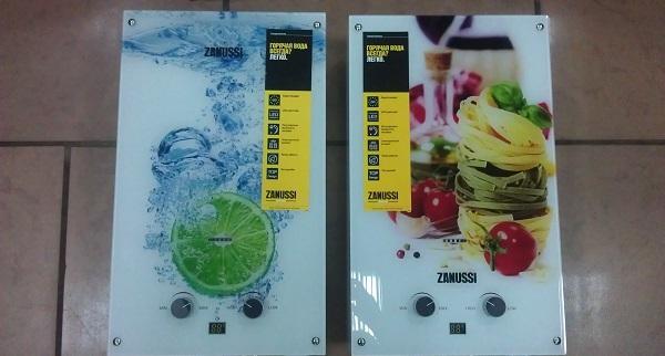 Газовые колонки Zanussi GWH Fonte Glass