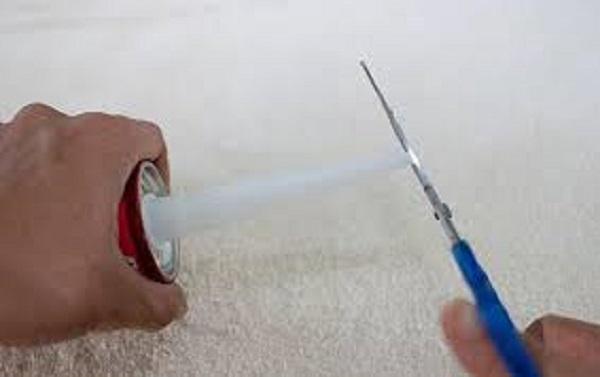 Обрежьте кончик насадки до нужного диаметра