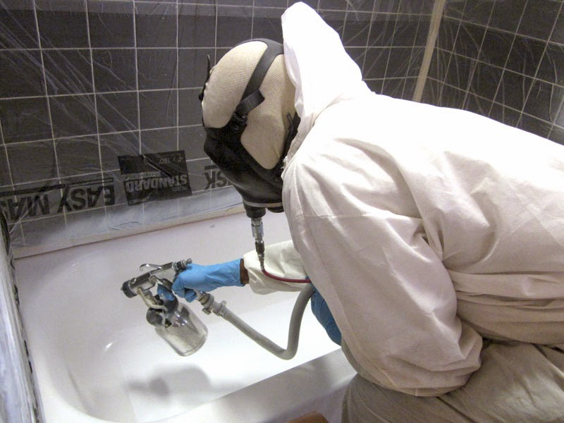 Покрытие ванны эмалью из распылителя