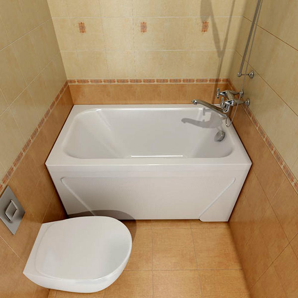 Сидячая ванна в интерьере