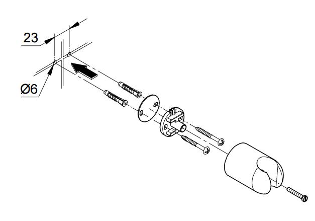 Схема монтажа держателя
