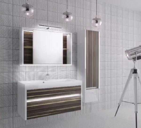 Светильник в интерьере ванной комнаты