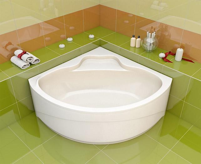Угловая модель ванны с сиденьем