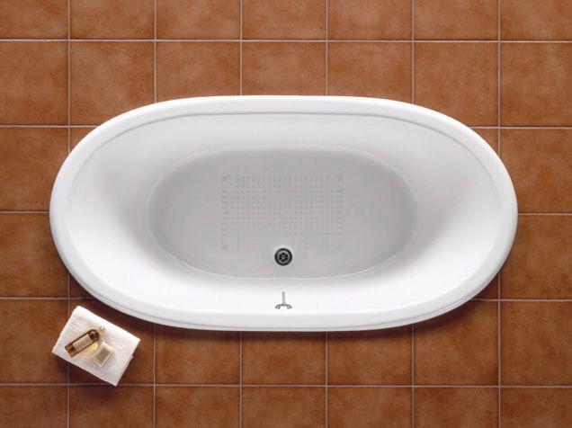 Ванна чугунная Roca NEWCAST Classic 1700x850 белая без ножек с противоскользящим покрытием дна