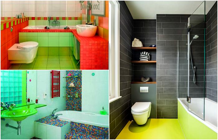 Варианты интерьеров ванных комнат