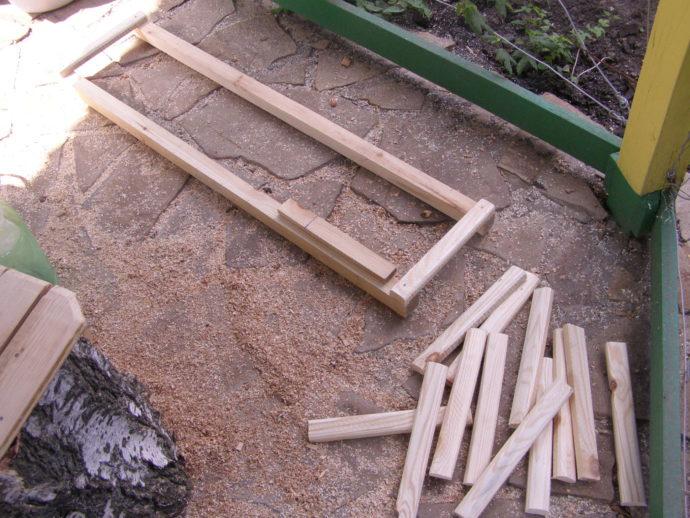 Делаем деревянную решетку на пол