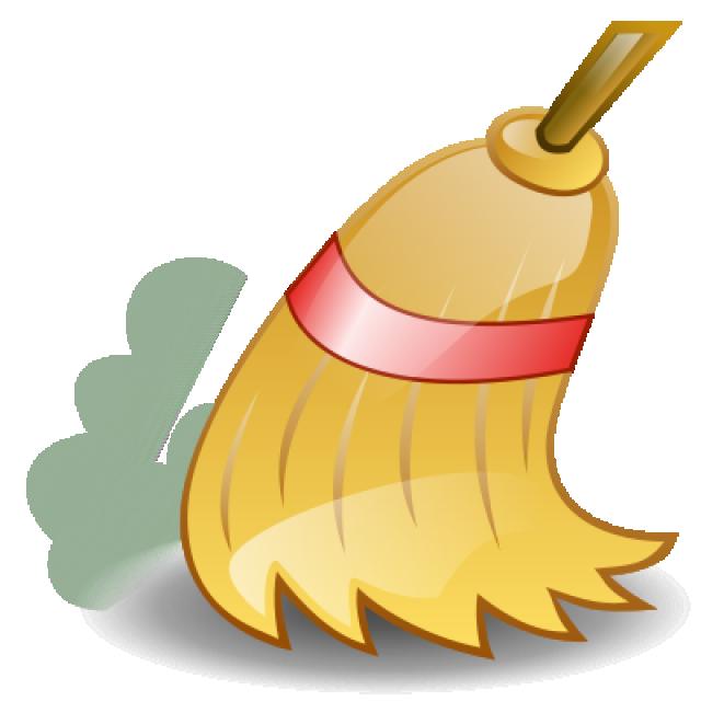 Нужно тщательно вымести всю пыль и мусор