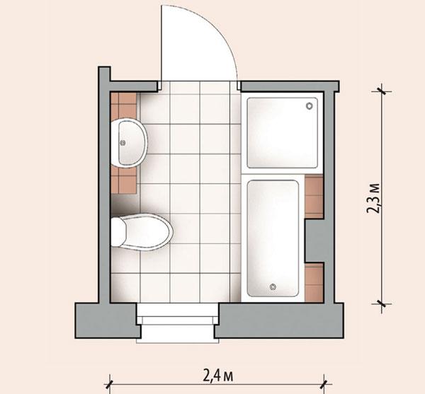 Планировка ванной 5,52 кв м. Душевая кабина рядом с ванной