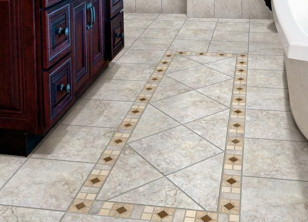 Плитка на полу в ванной